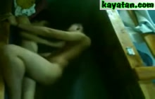 Amateur couple makes private video