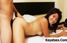 Beautiful Asian girl fucked in hotel room