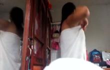 Pinay girl naked on voyeur cam