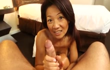 Filipina MILF Savannah anal and facial POV